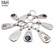 KeyRing For Audi Infiniti KIA Hyundai Opel Dodge Jeep Skoda Volvo Logo Metal KeyChain Badge Key Ring Emblem Key Holder Chain