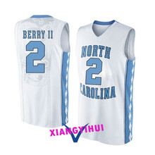 2017 North Carolina Berry II 2 College Basketball Jersey -Ang Logo Ang Name Can Customized