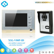 XSL-V80-L Manufacturer Best selling building screen wired video door phone 4 wire intercom system for apartment
