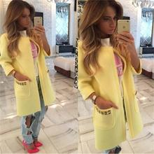 Speed through ebay burst paragraph autumn and winter women 's coat long  candy color l coat