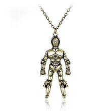 Star Wars Robot Necklace Pendant Jewelry Men's Hip Hop Charms Necklace Movie Jewellery Collier(China)