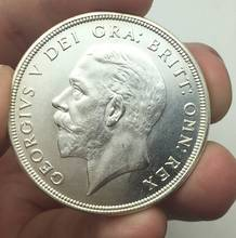 High Quality  United Kingdom 1 Crown - George V  Can Accept Custom 1932 Brass Silver Plated Copy Coin Can Choose The Years