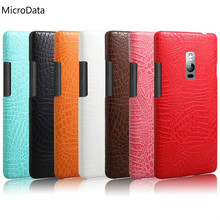 MicroData For Oneplus two Luxury Crocodile Pattern Case On One Plus 2 A2001 A2003 A2005 Dual Sim Hard PU Leather Phone Case(China)