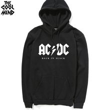 2017 Winter New fashion AC/DC band rock sweatshirt Mens acdc Graphic hooded men Print Casual hoodies hip hop brand tracksuit