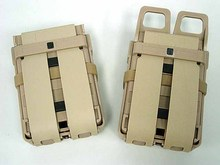 Airsoft Fast Mag Pouch Molle Black 5.56 M4 Magazine Pouch Double Mag Clip Tactical Molle Pouch In Stock