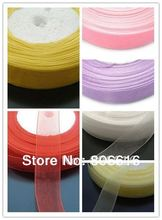 (Plz choose 1 Color) 20MM 50Yard Organza Voile Ribbon Riband Band Woven Hair Jewelry Findings