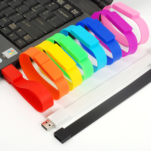 LEIZHAN USB Flash Drive Wrist Band 4GB 8GB 16GB 32GB 64GB USB Stick Bracelet Pendrive USB 2.0 Pen Drive Storage Device U Disk(China)