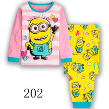 2017 Summer Girl's Clothing Sets Baby Girls fashion pajamas suit sleepwears pajamas cotton long sleeve shirts+pants 2pcs set