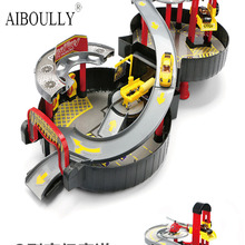 Portable Toys Wheel Contour Electric  Rail Car Kids Train Track Model Slot Toy Baby Racing Car Orbit Car Birthday Gift