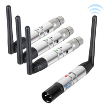 Donner 4pcs DMX512 DMX Dfi DJ 2.4G Wireless 3 Receiver & 1 Transmitter Stage Lighting Control(China)