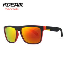 KDEAM Polarized Sunglasses Men Sport Eyewear Brand Designer Driving Oculos De Sol Reflective Coating UV400 With Case KD156(China)