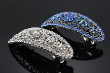 1pc Fashion Flower  Hairpin Crystal  Girls Elegant  Barrette  Wedding Brides Hair Jewelry Bridal Rhinestone Accessories 233-1