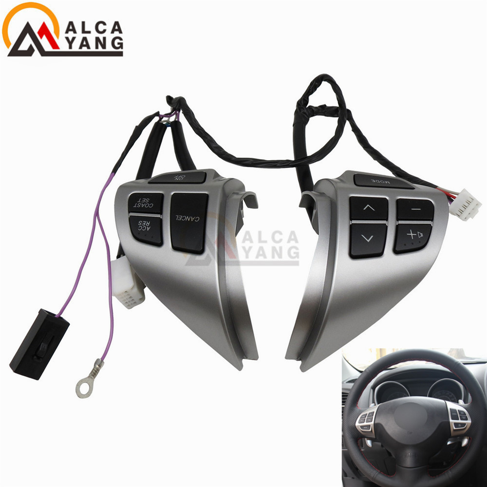 Car -styling buttons FOR Mitsubishi ASX Multi-function Car steering wheel control buttons with cables Free shipping (China)