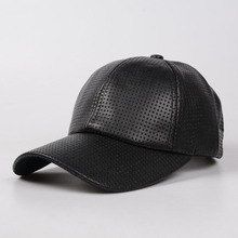 Ms summer baseball cap PU black hat  sports cap good design gorras ipads can be adjusted