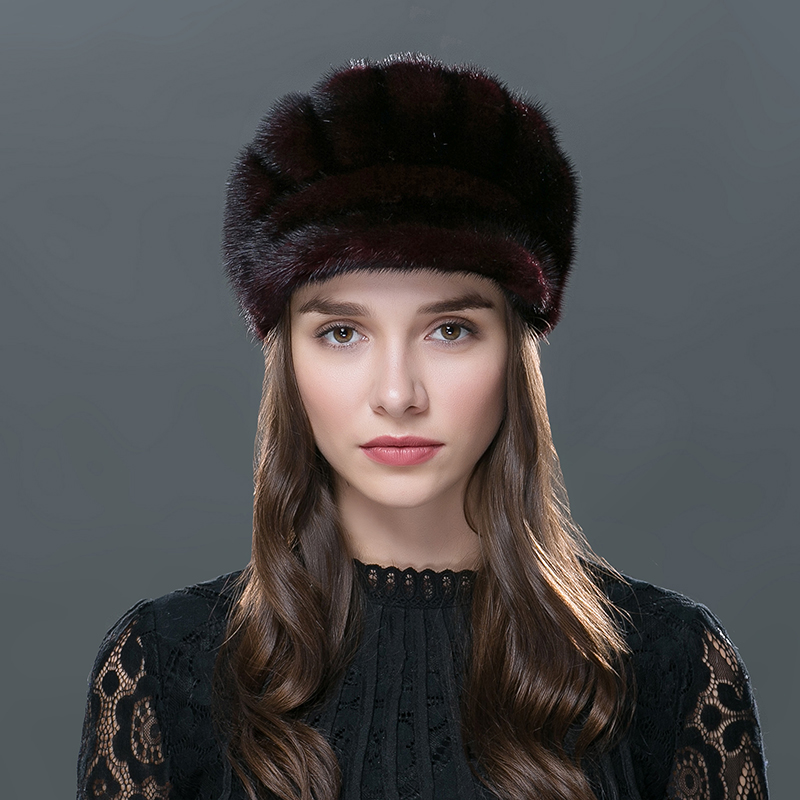 2016 New Fashion Style Women's Hats With Mink And Fox Tail Fur Material Caps For Women Girls Knitting Woolen Weave Hat Gorros