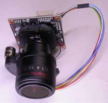 "AHD-H (1080P) 3.0MP Motorized Zoom Focal 2.8-12mm LEN 1/2.9"" IMX322 CMOS + NVP2440 CCTV board camera module PCB board +OSD Cable"