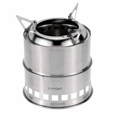 Lixada Brazier Portable Stainless Steel Lightweight Wood Stove Alcohol Stove Burner Outdoor Cooking Picnic BBQ Camping