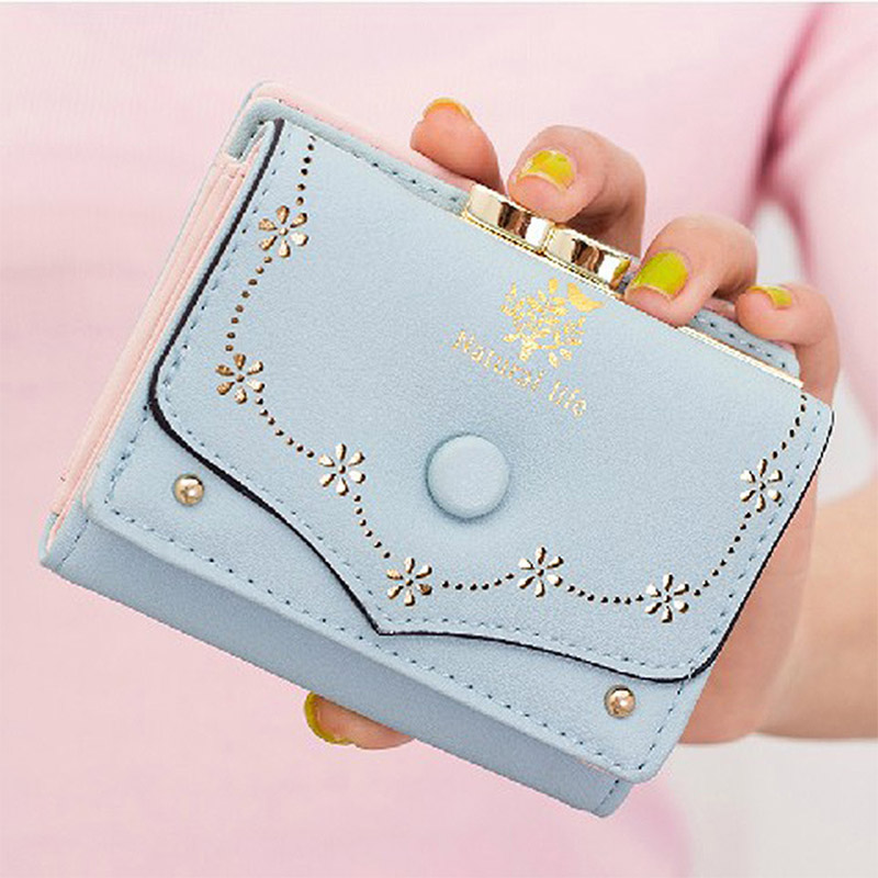 New Arrival Fashion Short Women Wallets Candy Colors Embossed Ladies Clutch Coin Purse Hasp Lovely Card Holder Billfold Handbag<br><br>Aliexpress