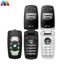 Super Mini Flip phone Keychain X6 Cell Phone With Bluetooth MP3 1.44 inch Screen Cute Mobile phone Car phone(China)