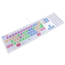 Adobe Premiere Pro CC Hot keys Keyboard Cover Skin For Apple Keyboard with Numeric Keypad Wired USB for iMac G6 Desktop PC Wired(China)