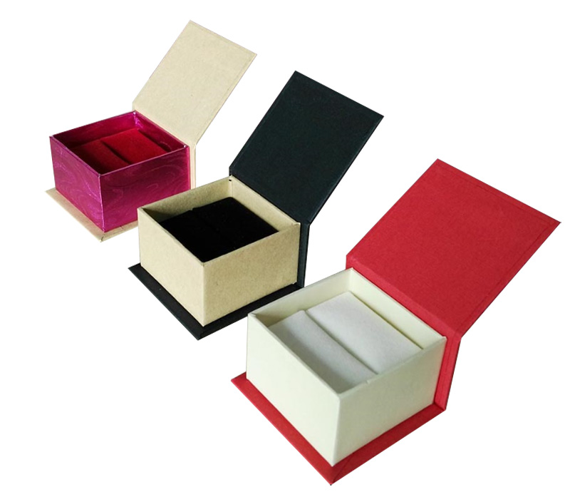 Ring Box with Magnetic Wedding Ring Gift Box OEM LOGO Jewelry Packaging for Earring 60*58*38mm Free shipping 80pcs/lot