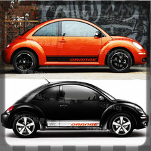 2017 New Design Carved Car Body White / Black Sticker With Orange Words For Volkwagen Beetle Z2CA384