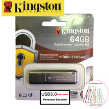 Kingston USB Flash Drive 64GB USB3.0 Metal Pendrive Personal Security Encrypted usb High Speed Memoria Stick cle usb 64gb U Disk(China)