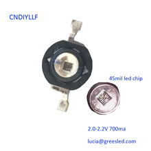 2017 New Arrive 10 pcs LED IR Diode 3W 850nm  700ma Diode Chip Black LEDs Infrared Deep Red Emitter for CCTV Camera Security Ni