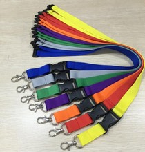100pcs Factory wholesale custom colorful blank lanyard for school with free shipping(China)