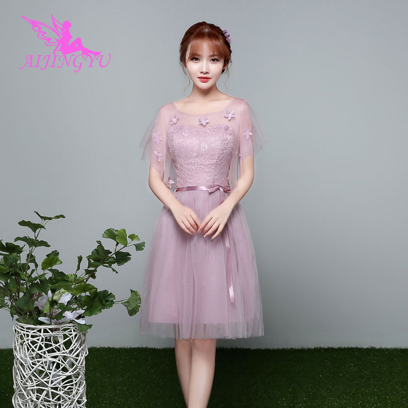 AIJINGYU 2018 girl sexy women's gown prom dress plus size bridesmaid dress BN297