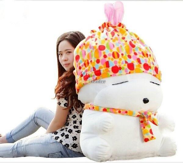 Fancytrader 100cm Giant Lovely Plush Stuffed MashiMaro Toy Super Cute Big Rabbit Doll Pink Orange Blue for Gifts<br><br>Aliexpress