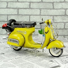 1:12 motorcycle toy hot wheel Vespa model mini metal motorcycle model Yellow RED Italy vintage Diecast metal model motorcycle(China)