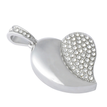Hot Sale Fashion Jewelry Heart Shape USB Flash Drive 8GB 16GB 32GB 64GB USB 2.0 Flash Memory Stick Drive Car/Pen/Thumb/Key Gift
