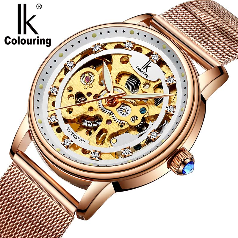 Women Watch Luxury Brand Fashion Casual Ladies Watch Dress hollow automatic mechanical Watch Clock Woman feminino reloj mujer<br>
