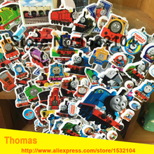 6PCS / lot Mixed Cartoon Bubble Stickers Thomas the Train Children Kids Boys Cartoon Stickers Decoration Christmas Gift
