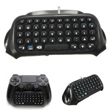 Hot Sale 1Pc Wireless Bluetooth Chatpad Message Keyboard for Sony for PlayStation 4 for PS4 Controller Black(China)