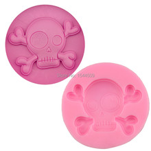 1Pcs 3D Halloween Skull silicone baking  Fondant Cake Chocolate Soap Sugar Craft Mold Mould Cutter Silicone Tools DIY Cupcake