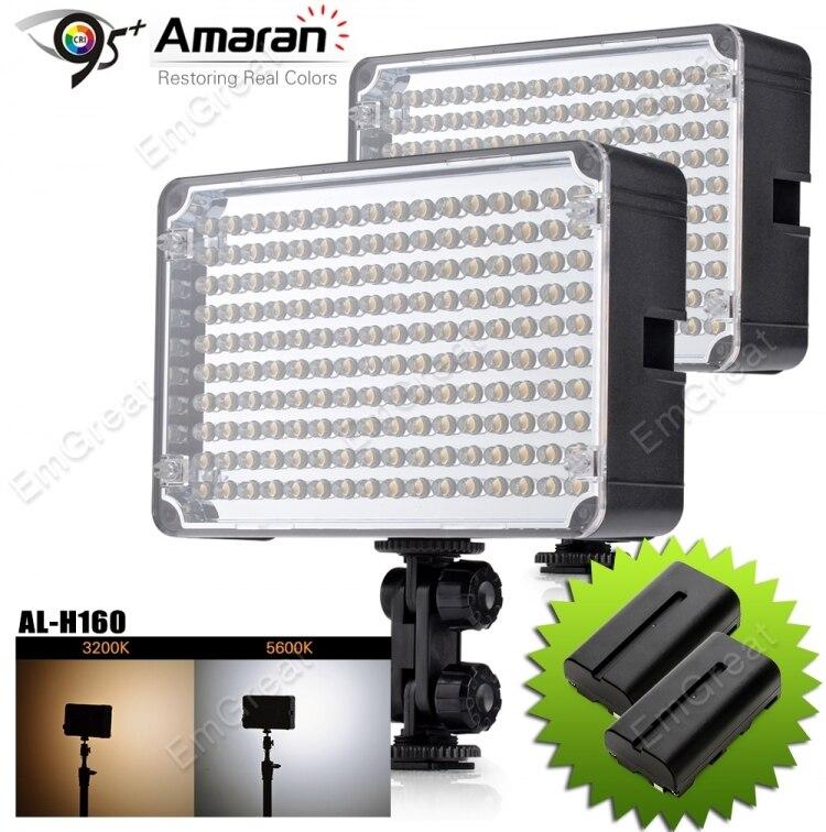 2pcs/lot Aputure Amaran AL-H160 CRI 95+ 160 LED Video Studio Light Photography Lighting + NP-F550 Battery (Gift)<br><br>Aliexpress