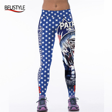3D Printed Yoga Pants American Football Teams Patriots Jersey For Women Sports Leggings Fitness Trousers Running Exercise Tights(China)