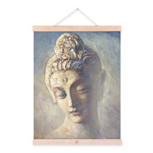 Vintage Retro Asian Buddha Zen Portrait A4 Large Art Prints Poster Classic Wall Picture Canvas Oil Painting No Framed Home Decor