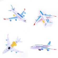 Light Sound Universal Airbus A380 Model Airplane Electric Flash Toys Aircraft Model Plane Airplane Toys Gift for Kids(China)