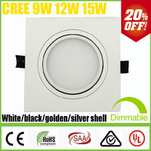 Limited 20% OFF Square CREE 9W 12W 15W SMD5730 Dimmable /Non LED Downlights Fixture Recessed Ceiling Down Lights Lamp CE SAA UL