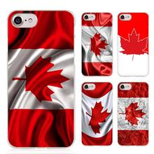 Canada Flag Clear Cell Phone Case Cover for Apple iPhone 4 4s 5 5s SE 5c 6 6s 7 Plus