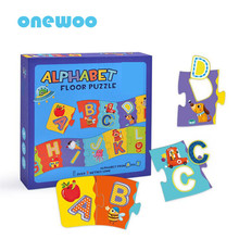 Children Alphabet Cognition Long Floor Puzzles Toys Kids Cartoon Early Education Enlightenment Large Puzzle Intelligence Toys(China)