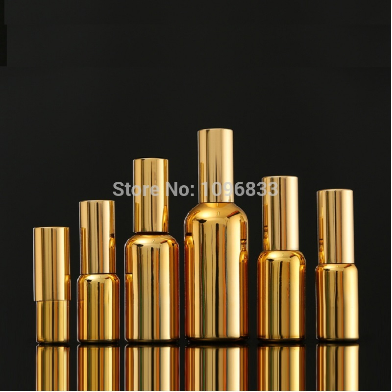 Gold Glass spray bottle Pump bottles