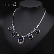Hyperbole Big Chokers Necklaces Fashion Brand Luxury Temperament Fine Jewelry Women Water Drop Crystal Pendant Necklace(China)