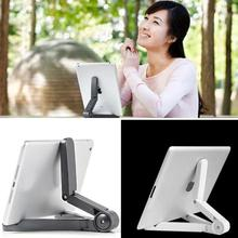 Universal Adjustable Fold-Up mobile phones Stands Mount Holder Tripod Cradle for iPad 2 3 4 5 Mini Air 7-10 inch Tablet PC(China)