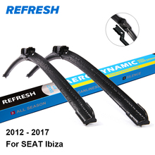 "REFRESH Wiper Blades for SEAT Ibiza Hatchback / SC Coupe / ST Estate 24""&16"" Fit Push Button Arms 2012 2013 2014 2015 2016 2017(China)"