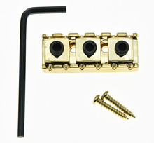 KAISH R3 Guitar 43mm Locking Lock Nut String Lock Fits Floyd Rose Tremolo Bridge Gold(China)