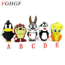 FGHGF Looney Tunes usb flash drive 32GB pendrive 16GB 8GB 4GB bugs bunny Daffy duck Cartoon Hot Sale animal pen drive usb 2.0(China)